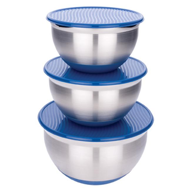 Miu France MIU France Stainless Steel / Silicone Lidded Mixing BowlsS/3
