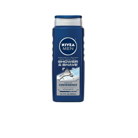 (2 pack) NIVEA Men Shower and Shave 3-in-1 Body Wash 16.9 fl.