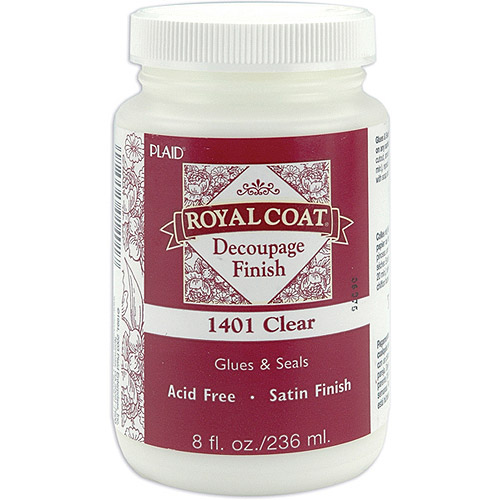 Royal Coat Satin Decoupage Finish, Clear, 8 oz