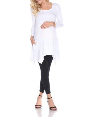 White Mark Women's Maternity Kayla Tunic Top