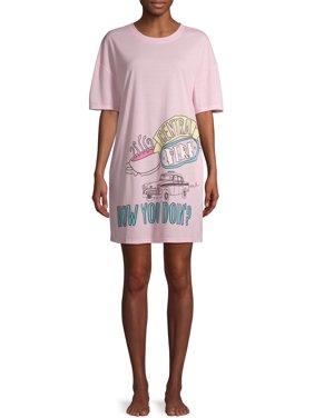 Friends Women's Dorm Sleep Shirt with Side Pockets