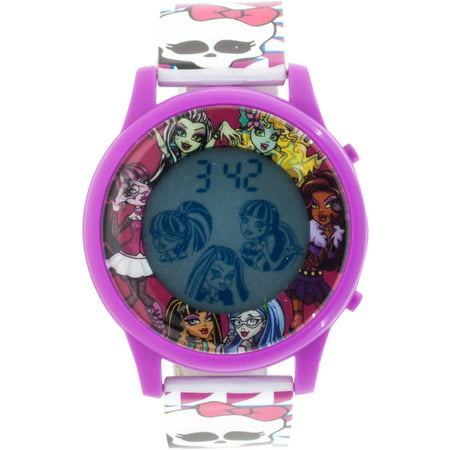 Mattel Monster High Girls Lcd Animation Watch