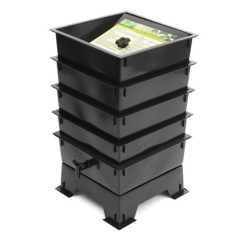 The Worm Factory® 4-Tray Recycled Plastic Worm Composter - Black