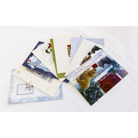 Canvas Print Christmas Postcards Envelopes Christmas Letters Stretched Canvas 10 x 14 ()