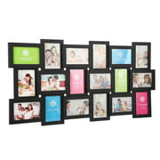 "(18) Pictures Frames Collage for Photos in 4"" x 6"" Glass Protection Display Wall Mounting Gallery Home Decor Kit"
