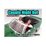 Seated Couple 2 Piece Figure Set Release 2 for 1:24 Models by American Diorama