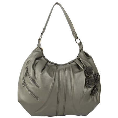 Christian Audigier Zee Zee Top Ziggy Hobo Bag - Gunmetal