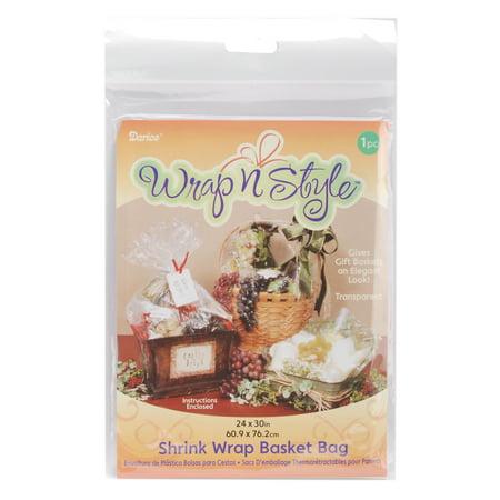 Wrap n Style Shrink Wrap Basket Bag 1/Pkg-24