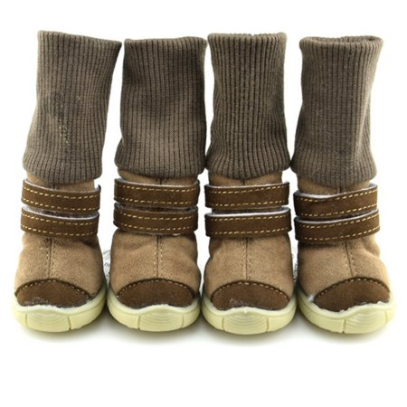 Enjoyofmine Suede Pet Dog Snow Winter Boots for Dogs