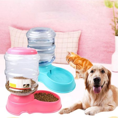 3.5L Automatic Feeding Bowl for Pet Dog Cat Supplies  Drinking fountain blue