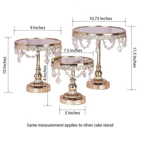 Efavormart Set of 3 Round Mirror Top Cup Cake Riser Centerpiece Stand Wedding Birthday Party Dessert Rise Cake Display Stand](Wedding Dessert Table Ideas)