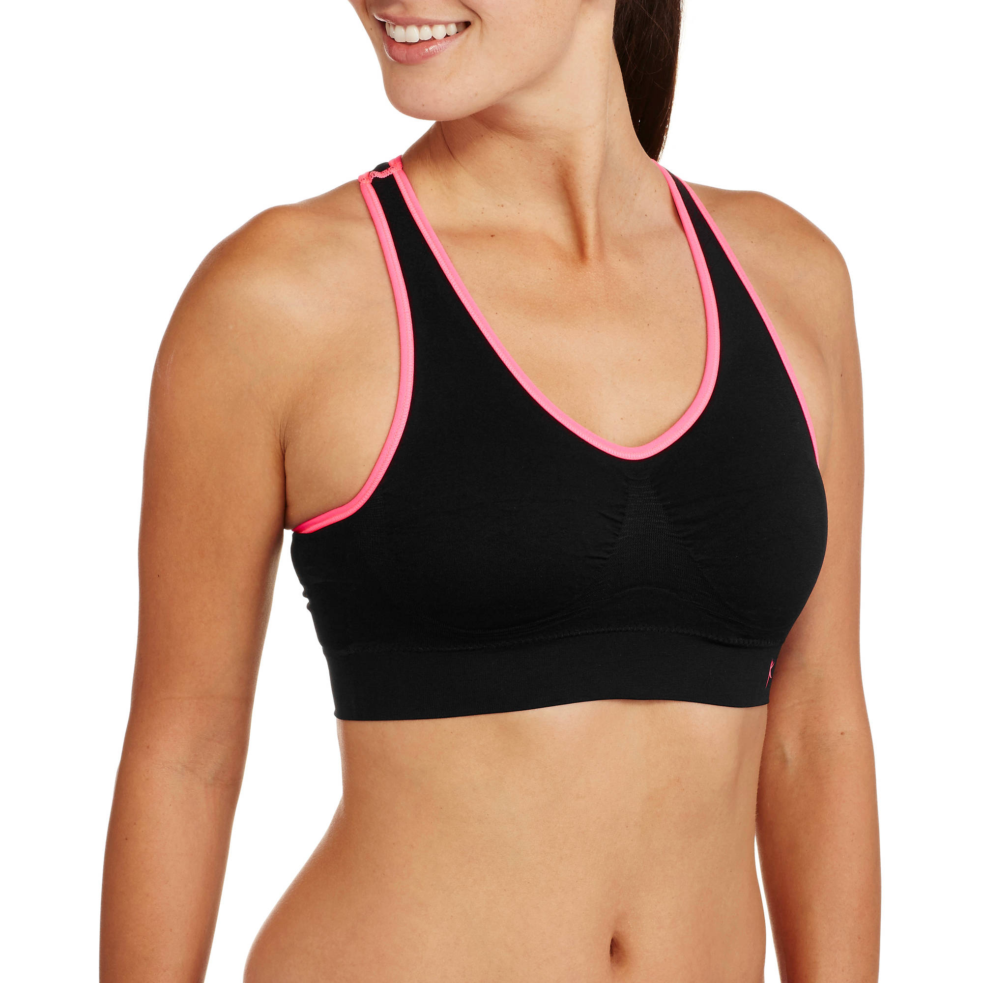 Danskin Now Womens 360 Medium-Impact Seamless Racerback Sports Bra