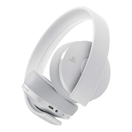 Sony PlayStation 4, Gold Wireless Stereo Headset, White