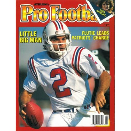 Athlon Ctbl 012550 Doug Flutie Unsigned New England Patriots Sports 1989 Nfl Pro Football Preview Magazine