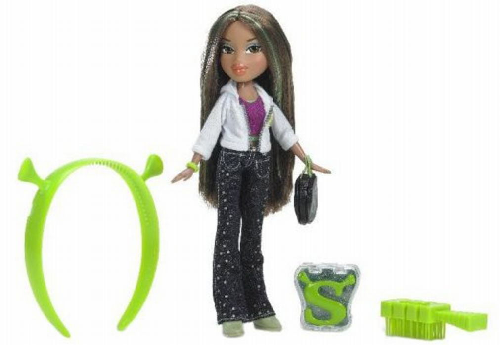 Bratz Shrek Yasmin Doll Set & Ogre Lip Gloss Headband by