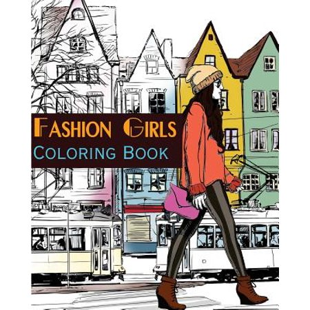 Fashion Girls Street Fashion Coloring Book