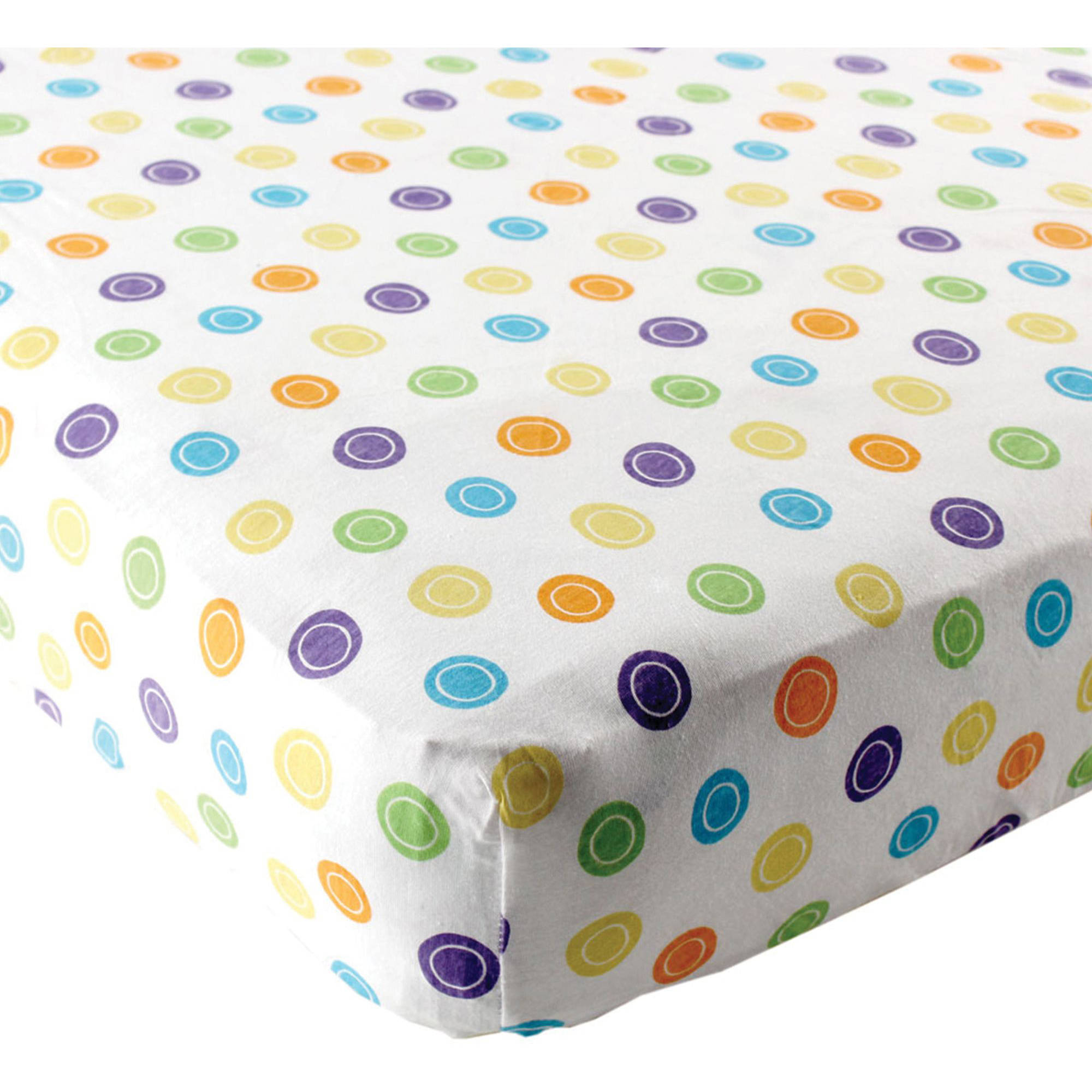 Luvable Friends Fitted Pack N Play Sheet, Print Yellow