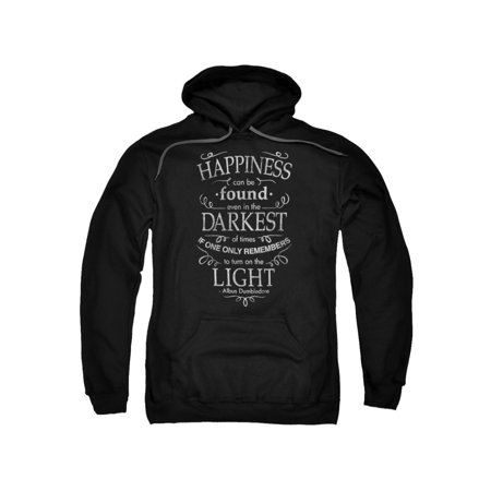 Harry Potter Happiness Adult Pull Over Hoodie Black](Harry Potter Dressing Up Clothes)