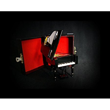 "3"" Seasons of Elegance Open Grand Piano Musical Instrument Christmas Ornament"