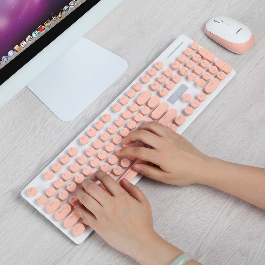 New League N520 Wireless Punk Mechanical Hand Keyboard Mouse Set