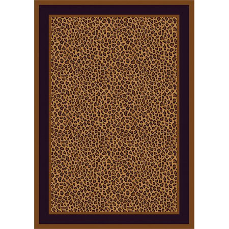 Milliken Top 30 Area Rugs Contemporary Leopard Bordered