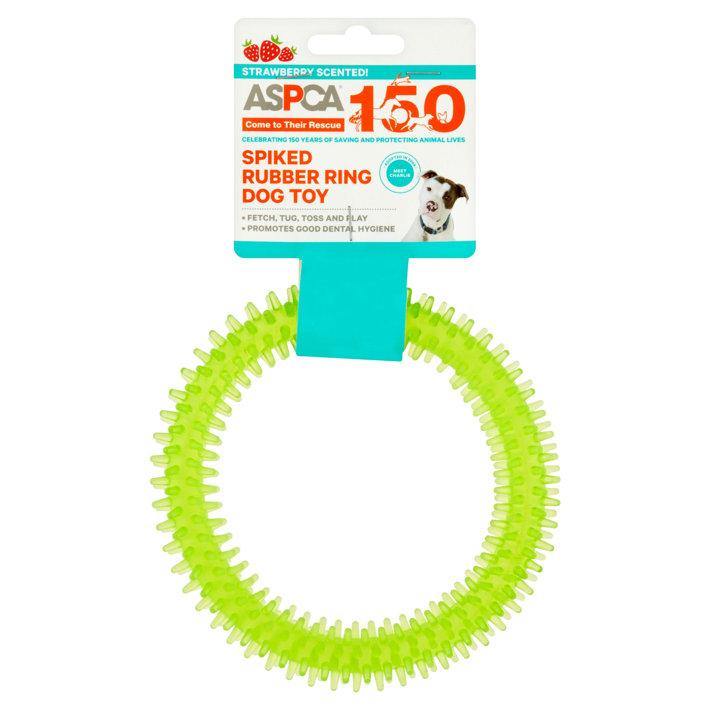 ASPCA Spiked Rubber Ring Dog Toy