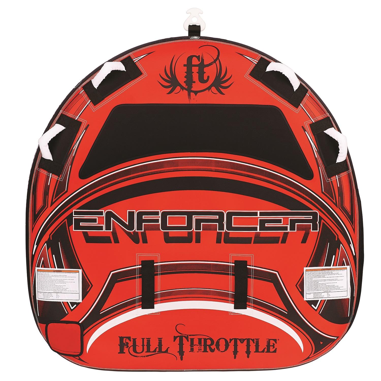 Full Throttle Enforcer 60in D-Shaped Tube-Red
