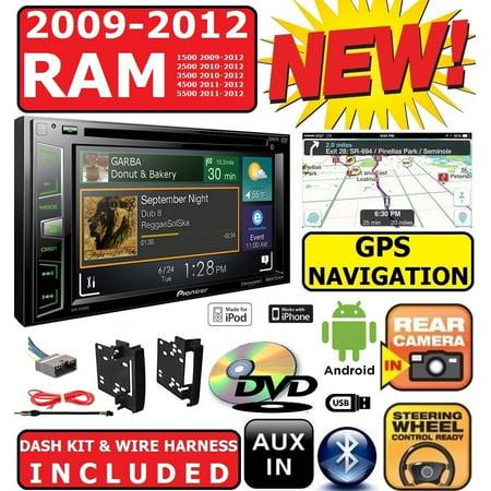 2009-2012 dodge ram pioneer navigation double din dvd radio stereo  bluetooth bt - walmart com