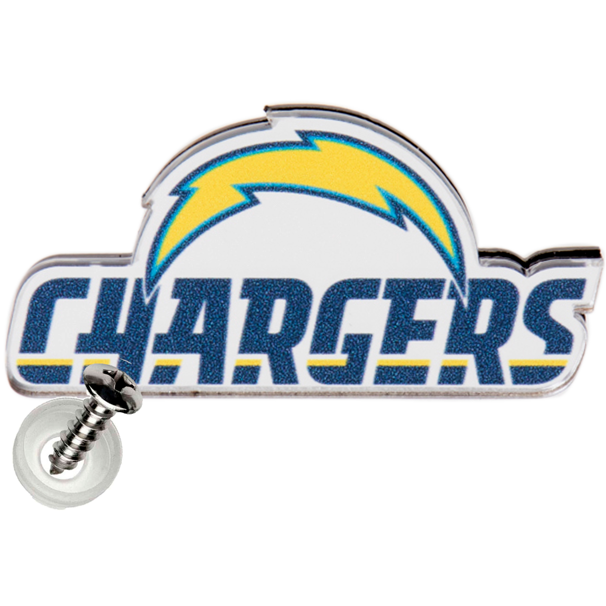 Los Angeles Chargers Acrylic License Plate Screw Cover - No Size