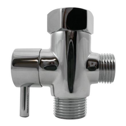 Luxe Metal T-adapter with Shut-off Valve