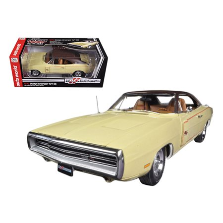1970 Dodge Charger RT/SE 440 Six Pack Cream Dodge 100th Anniversary Limited to 1250pc 1/18 Diecast Car Model by