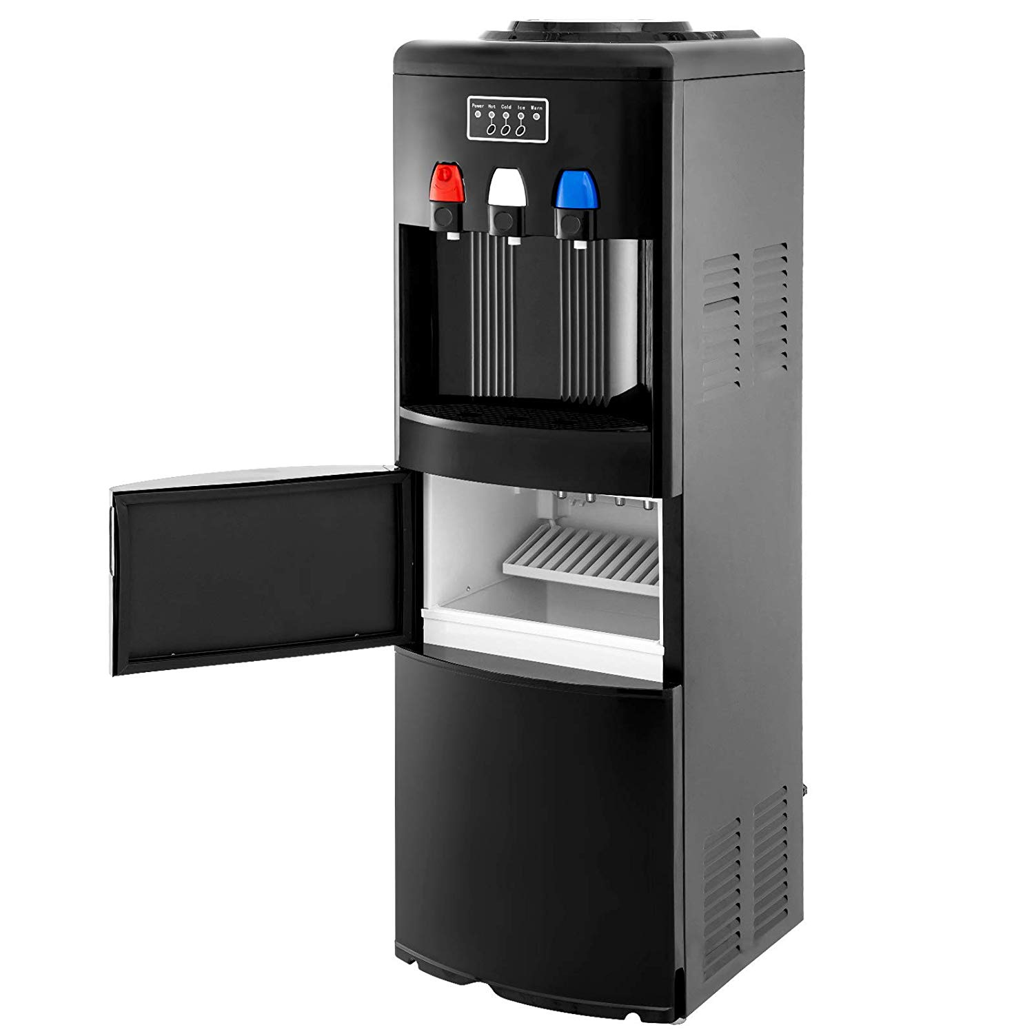 Electric Hot Cold Water Cooler Dispenser W Built In Ice Maker Machine Hot And Cold Top 3 5 Gallon Bottle Walmart Com Walmart Com