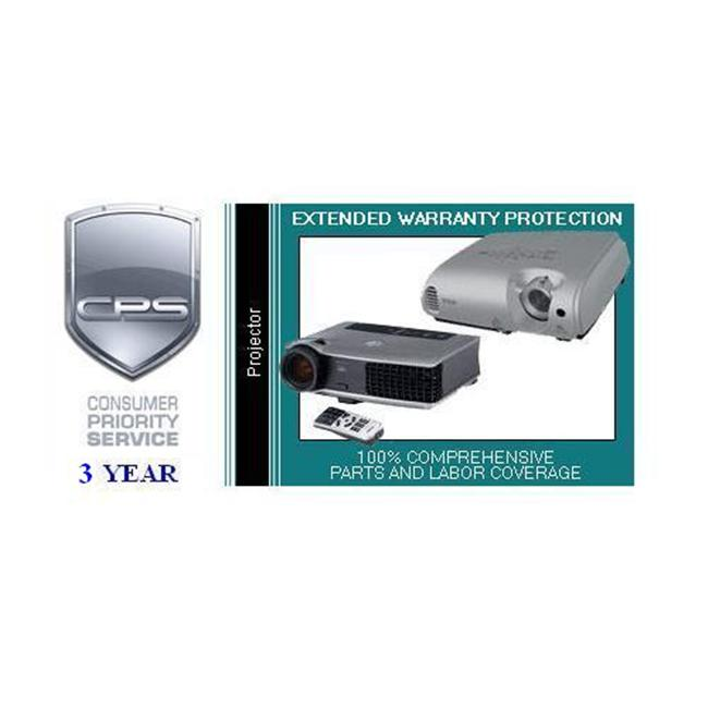 Consumer Priority Service PRJ3-3500 3 Year Projector under $3 500. 00