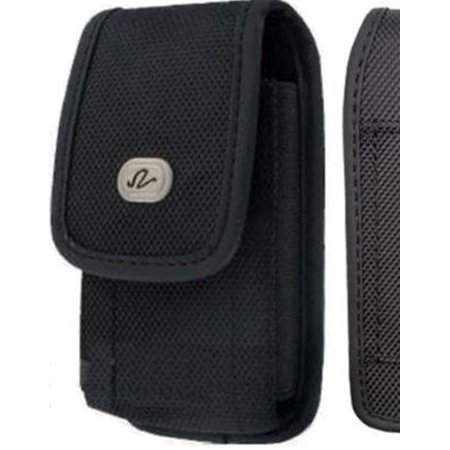 Vertical Rugged Canvas Case Cover Holster with Fixed Belt Clip and Belt Loop FOR  Apple iPod touch 5th generation * Fits phone w/ Single Layer Case on it * (Ipod Touch Wrist Loop)