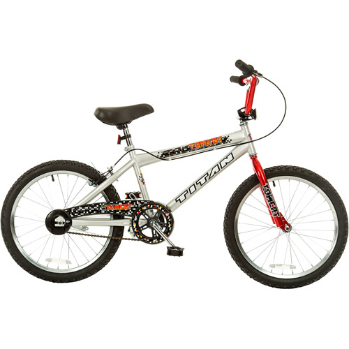 "TITAN Tomcat Boys BMX Bike with 20"" Wheels, Red and Silver"