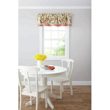Better Homes & Gardens Gingham & Blooms Valance