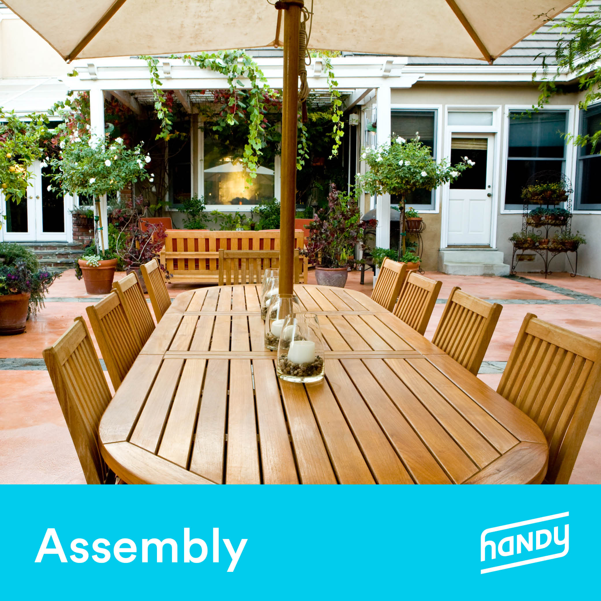 Outdoor Dining Set Assembly by Handy