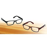 Unisex Reading Glasses With Spring-Hinged Frames, Set Of 2 (Power 2.0)