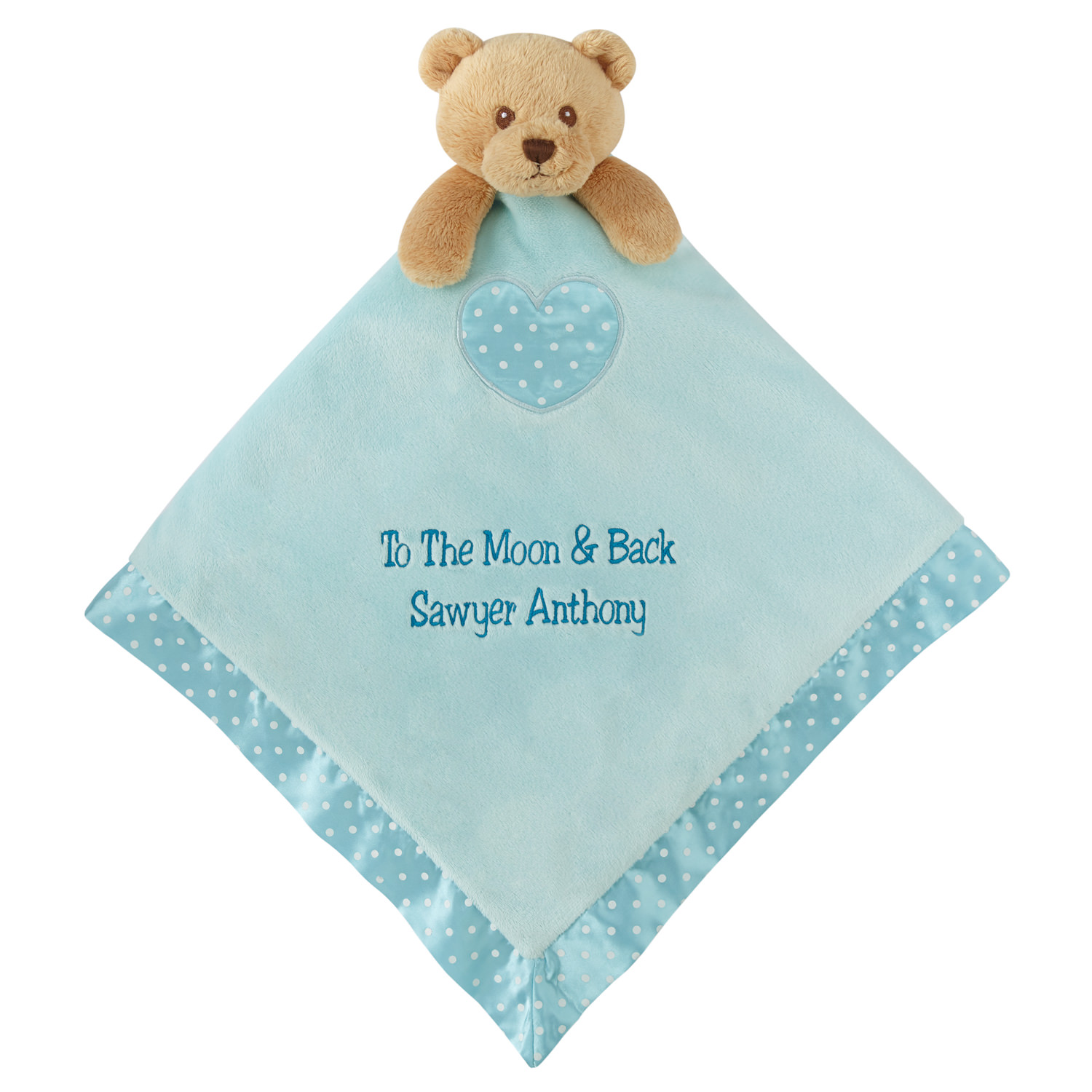 Personalized Baby's Best Friend Bear Blanket - Available in Blue or Pink