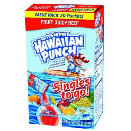 (12 Pack) Hawaiian Punch Singles To-Go Drink Mix, Fruity Juicy Red, 1.86 Oz, 8 Packets, 1 Count