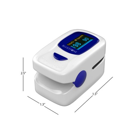 Finger Pulse Oximeter and Heart Rate Monitor- Portable Blood Oxygen Level and Heart Rate Fingertip Sensor with Carrying Case and Lanyard by