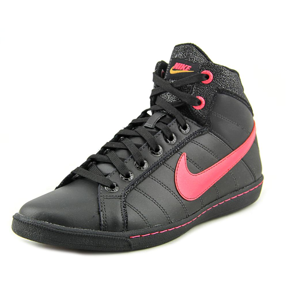 Nike Court Tradition LT Mid SI Women  Round Toe Leather Black Sneakers