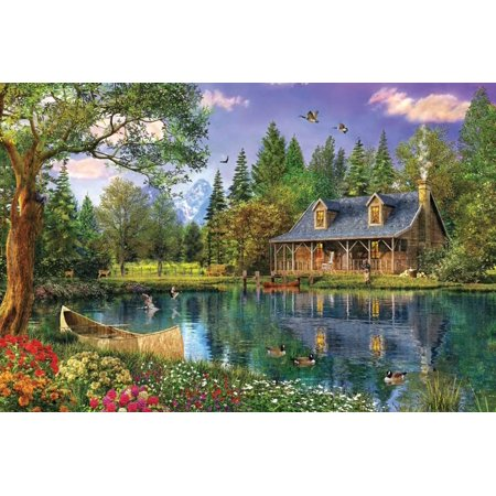 Crystal Lake Cabin Print Wall Art By Dominic - Express Crystal Lake