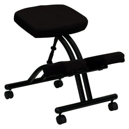 Steel-Frame Ergonomic Kneeling Posture Office Chair, Black