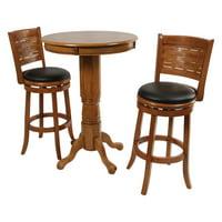 Boraam Oak Sumatra 3 pc. Pub Table Set by Boraam