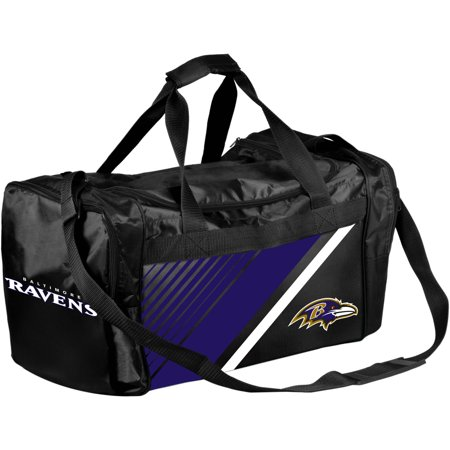 Forever Collectibles Nfl Baltimore Ravens Border Stripe Duffle Bag