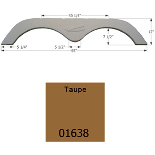 Icon Technologies 01638 Tandem R-Vision FS775 Taupe RV Fender Skirts