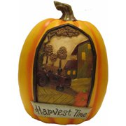 "9.75"" Harvest Time Pumpkin Decoration"