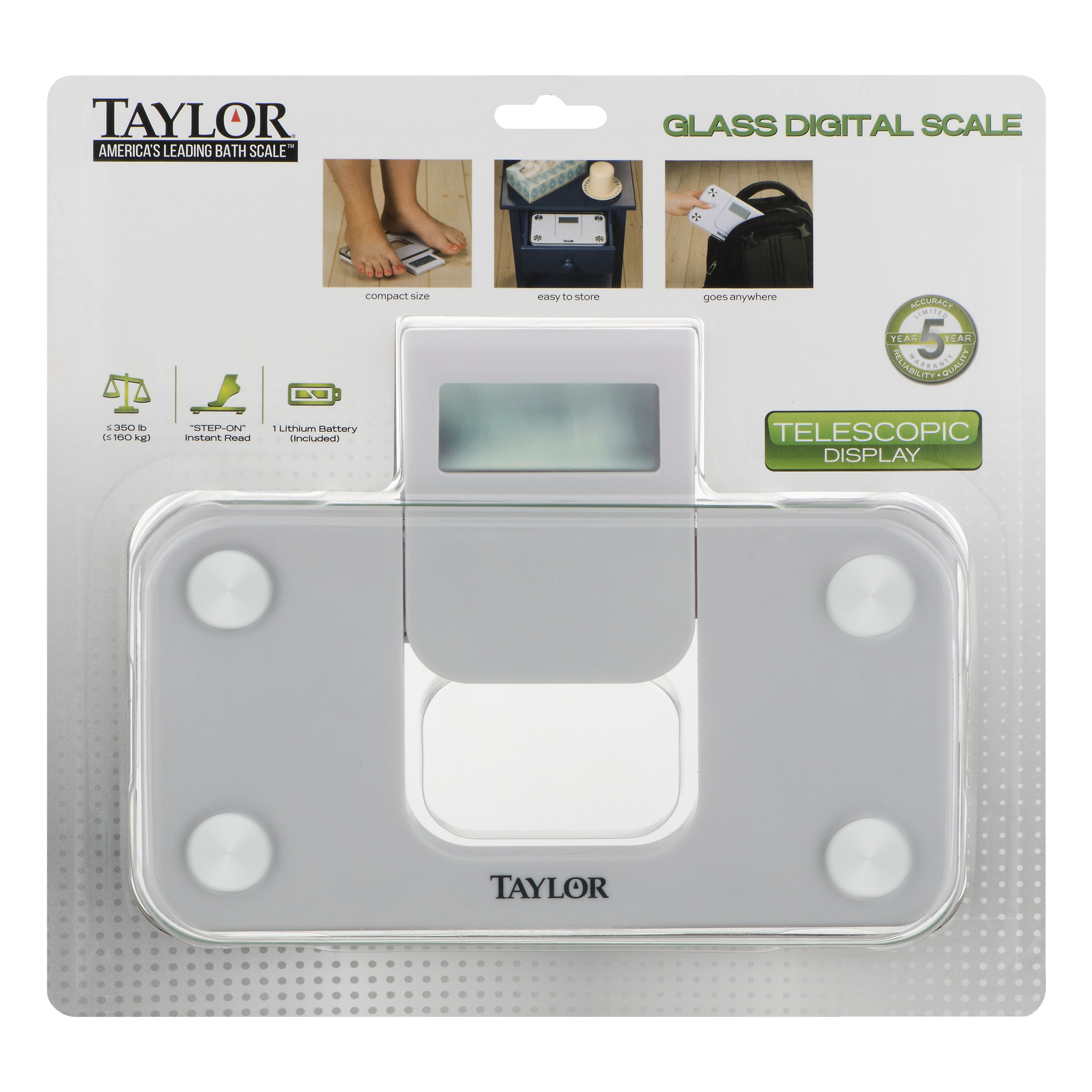 Taylor Glass Digital Scale Telescopic Display, 1.0 CT
