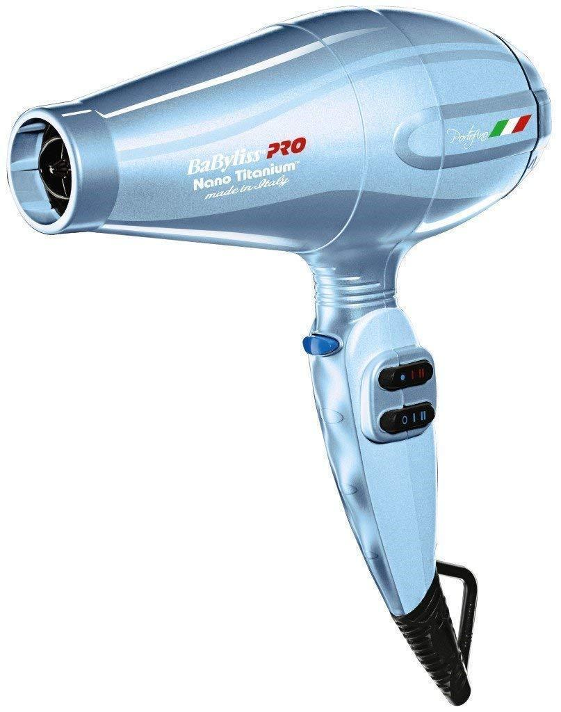 Babyliss Pro BNTB6610 Blue 2000 W HairHair Dryer With Nano Titanium Heat
